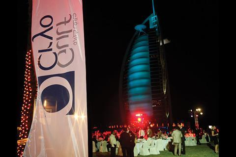 Delegates enjoy the Gala Dinner in Dubai, UAE.